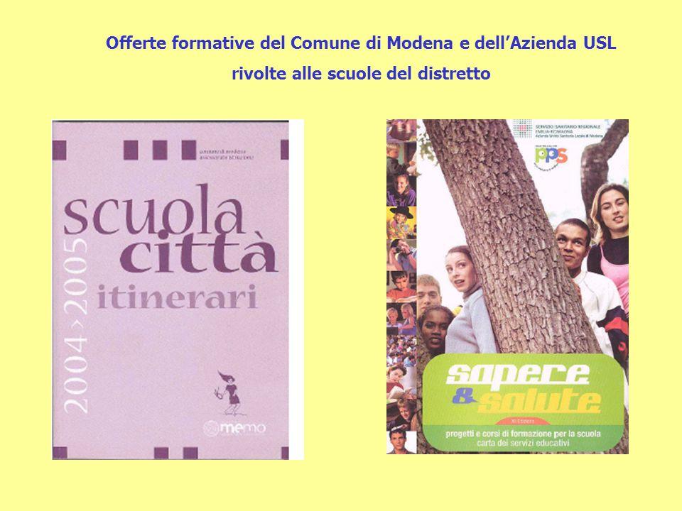 Offerte formative del Comune di Modena e dell'Azienda USL