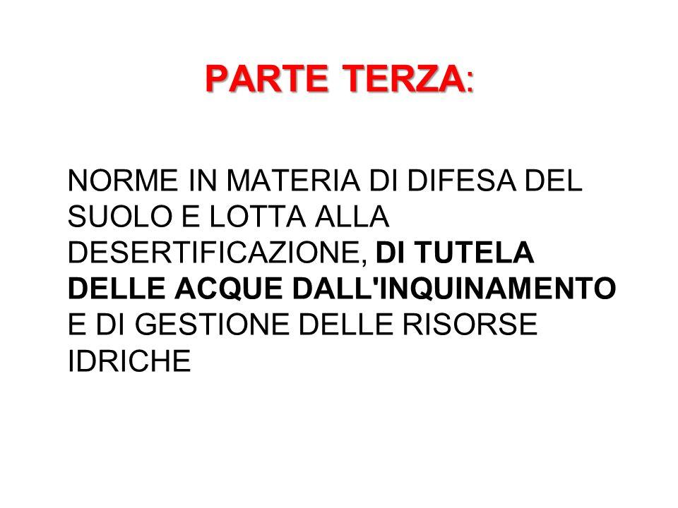 PARTE TERZA: