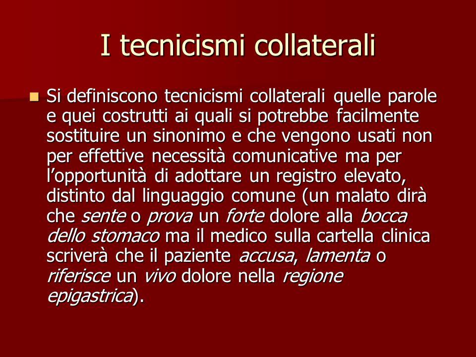 I tecnicismi collaterali