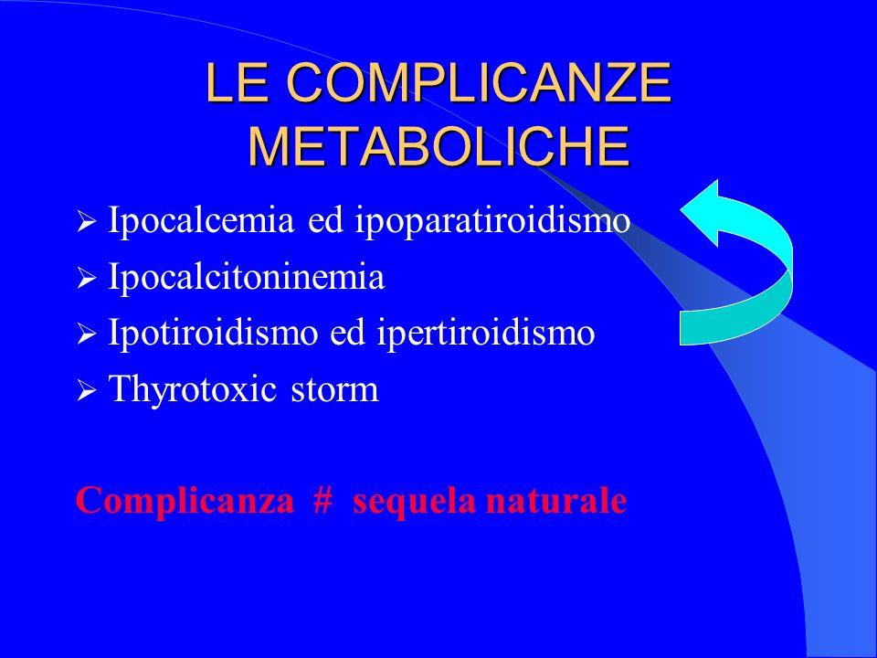 LE COMPLICANZE METABOLICHE