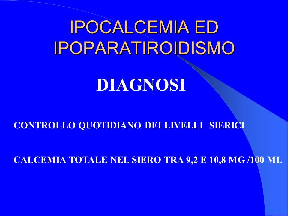 IPOCALCEMIA ED IPOPARATIROIDISMO