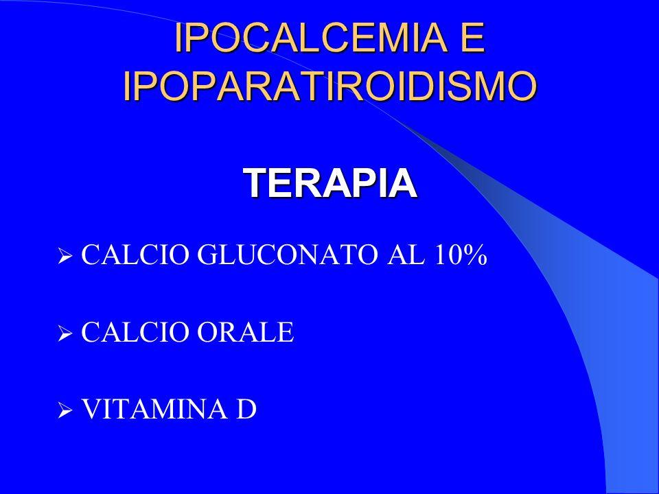 IPOCALCEMIA E IPOPARATIROIDISMO TERAPIA