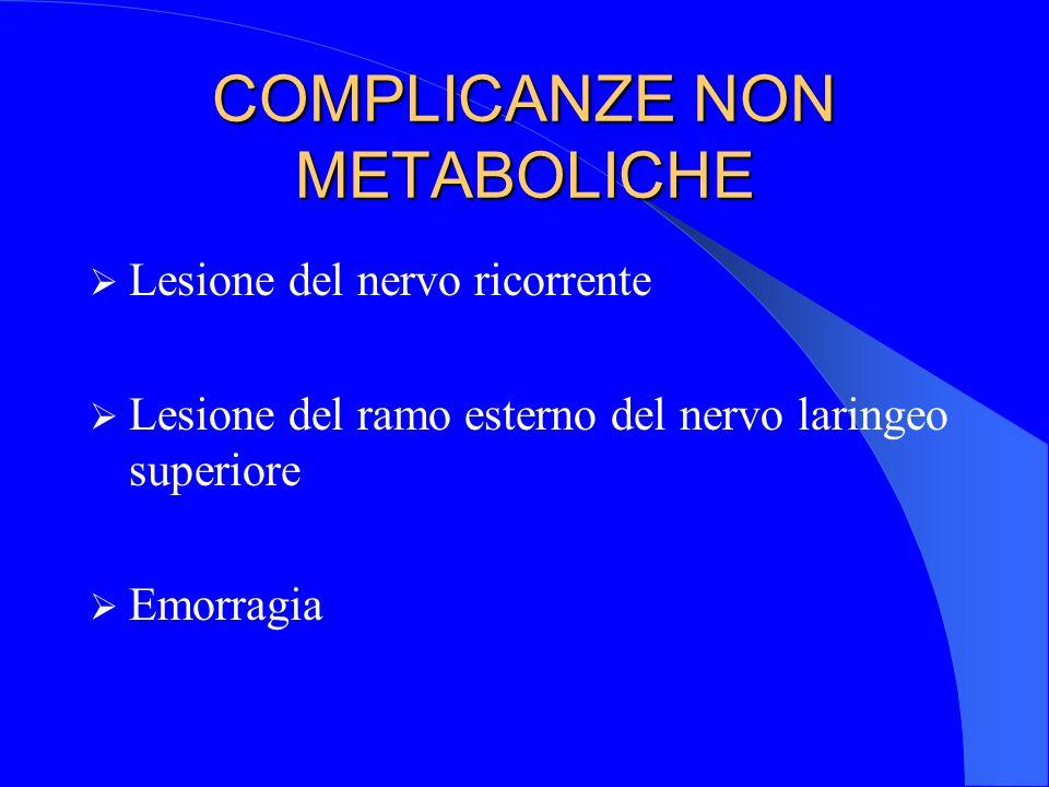 COMPLICANZE NON METABOLICHE