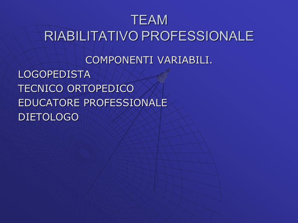 TEAM RIABILITATIVO PROFESSIONALE