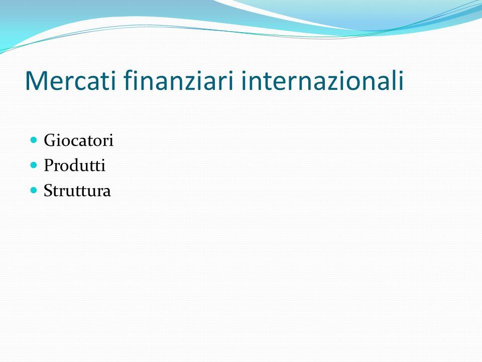Mercati finanziari internazionali