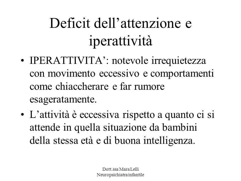Deficit dell'attenzione e iperattività