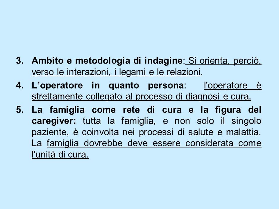 Ambito e metodologia di indagine: Si orienta, perciò, verso le interazioni, i legami e le relazioni.