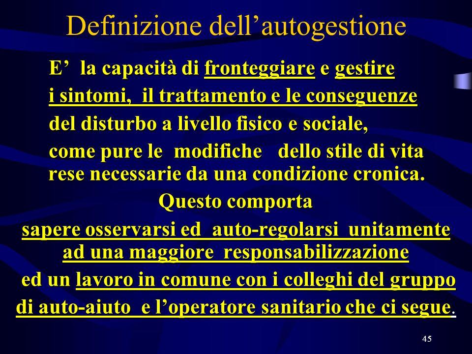 Definizione dell'autogestione