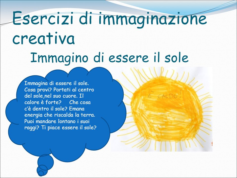 Esercizi di immaginazione creativa