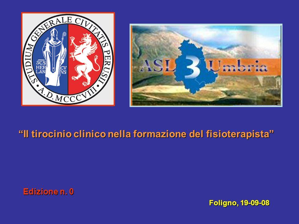 Il tirocinio clinico nella formazione del fisioterapista