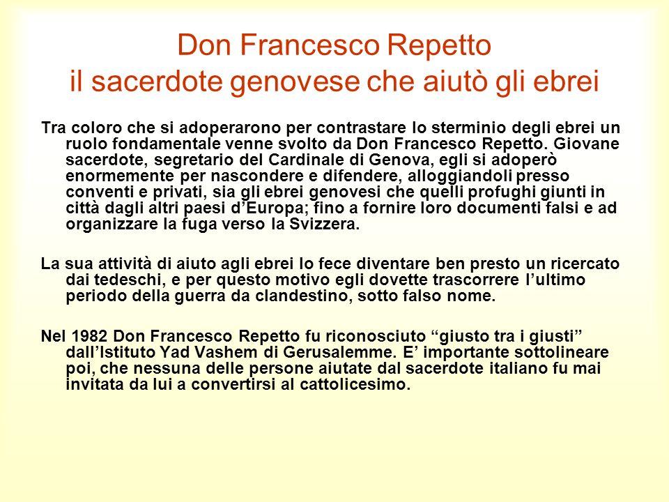 Don Francesco Repetto il sacerdote genovese che aiutò gli ebrei