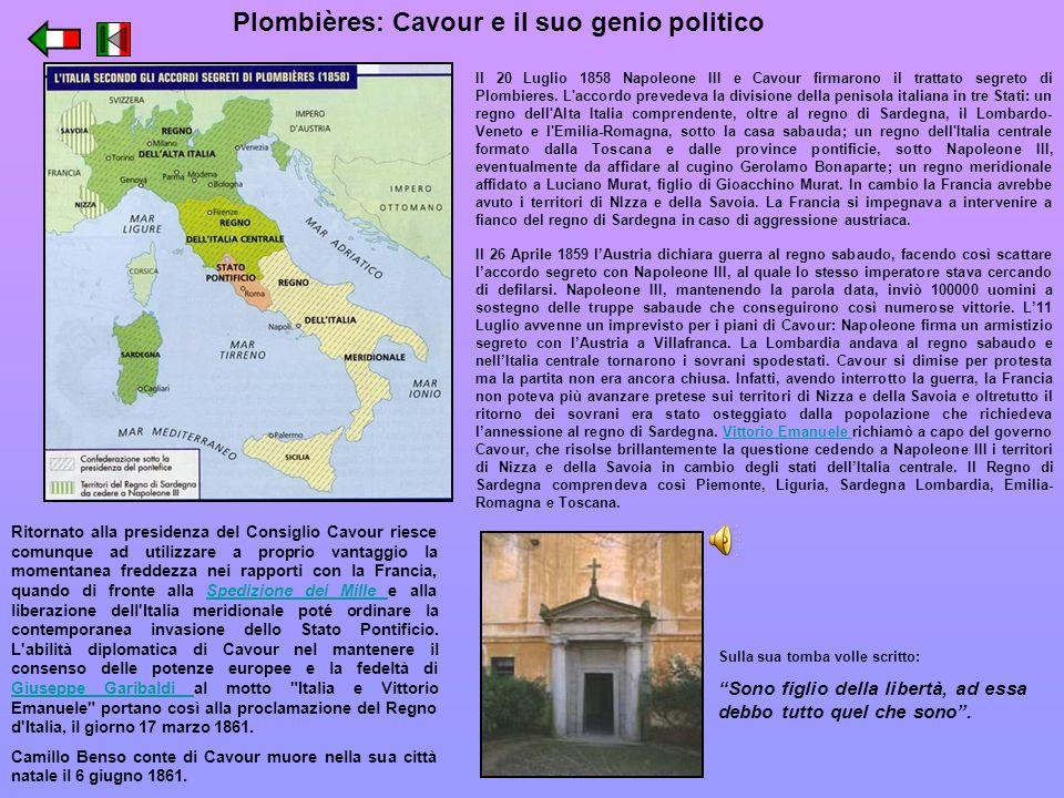 Plombières: Cavour e il suo genio politico