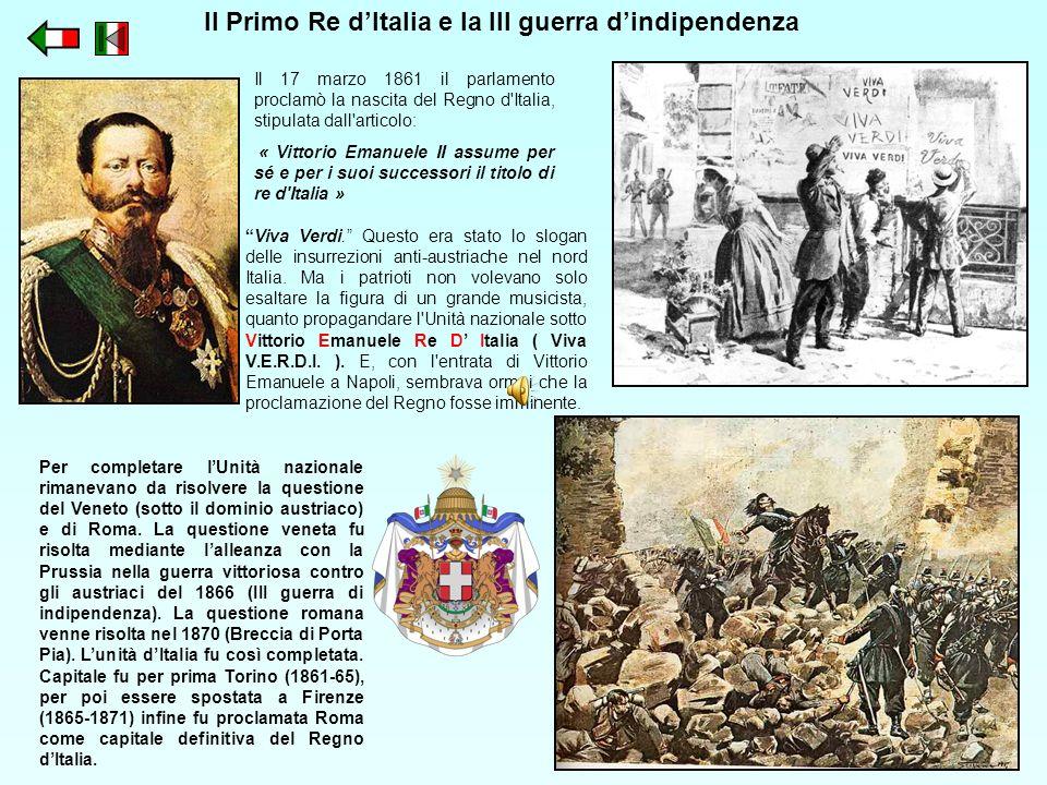 Il Primo Re d'Italia e la III guerra d'indipendenza