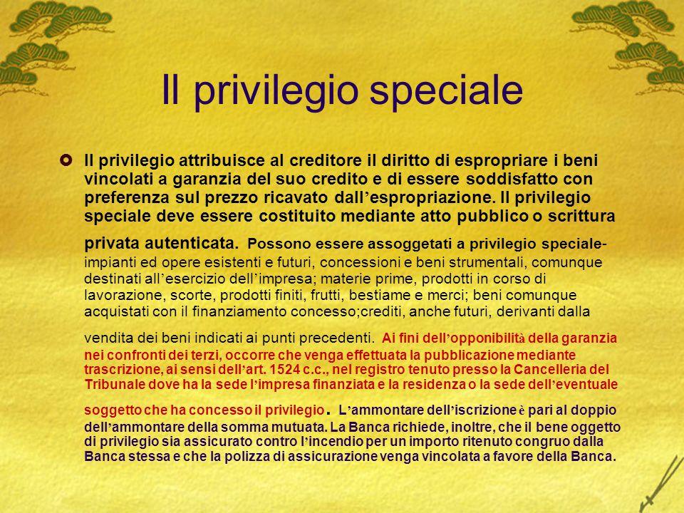 Il privilegio speciale