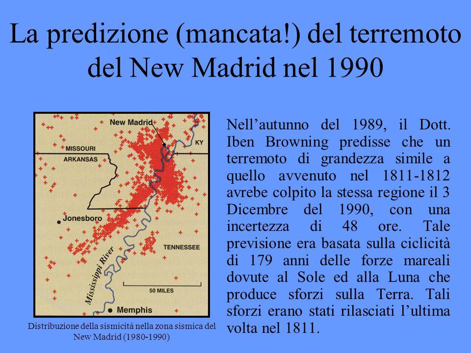 La predizione (mancata!) del terremoto del New Madrid nel 1990