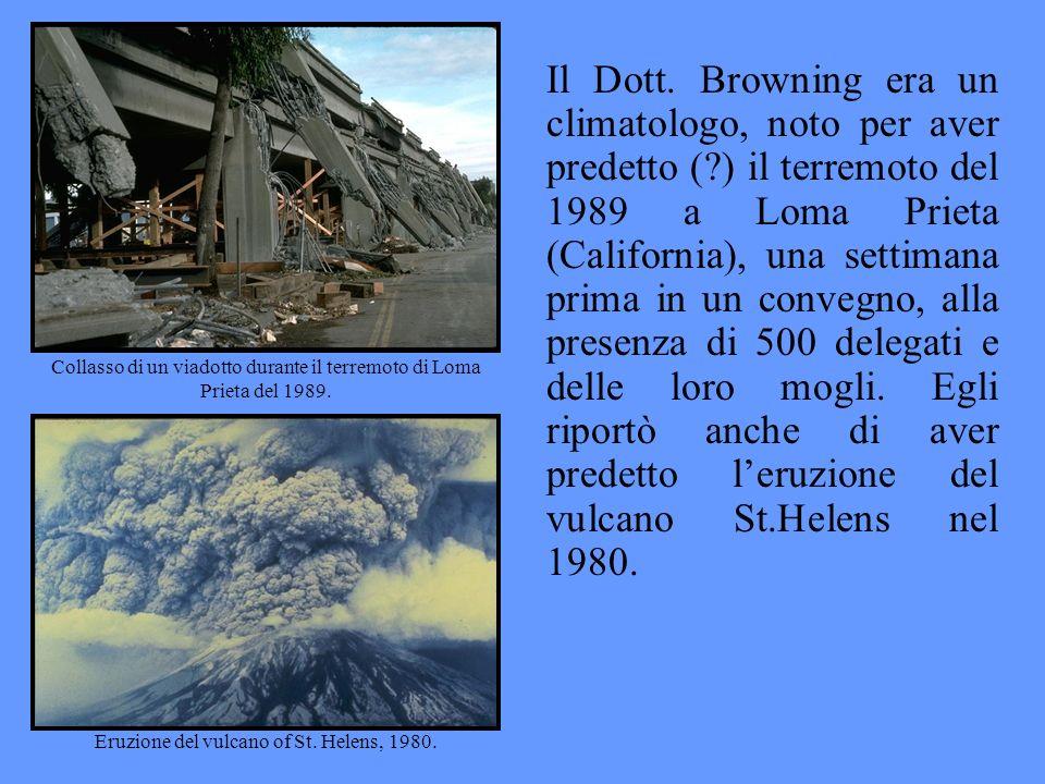 Il Dott. Browning era un climatologo, noto per aver predetto (