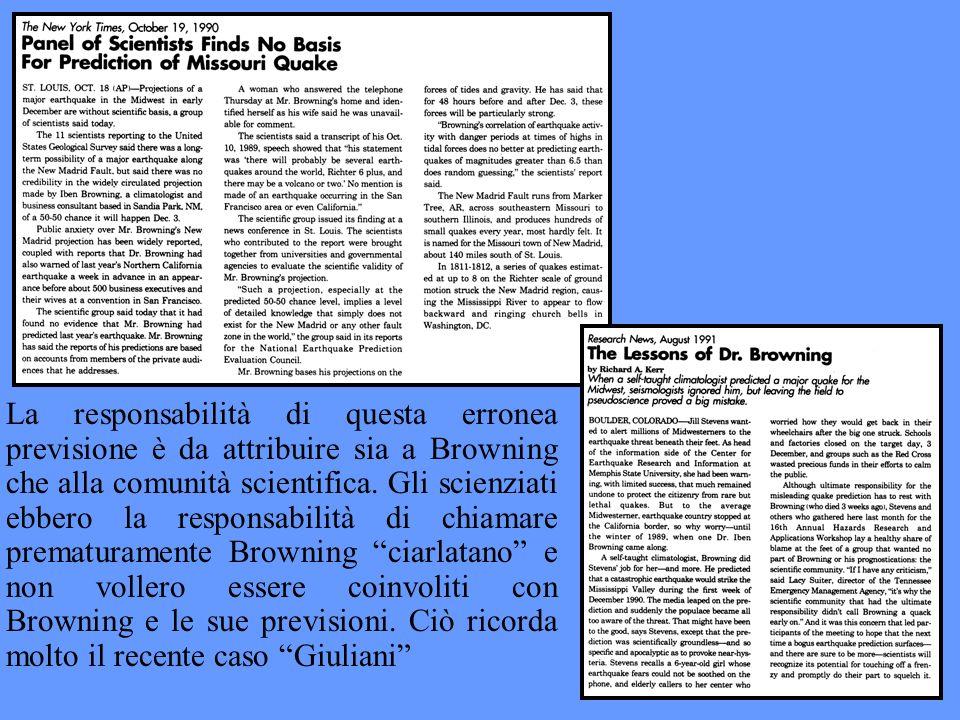 La responsabilità di questa erronea previsione è da attribuire sia a Browning che alla comunità scientifica.