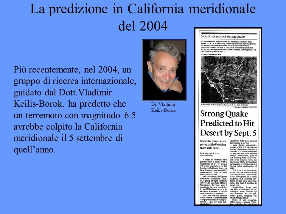 La predizione in California meridionale del 2004