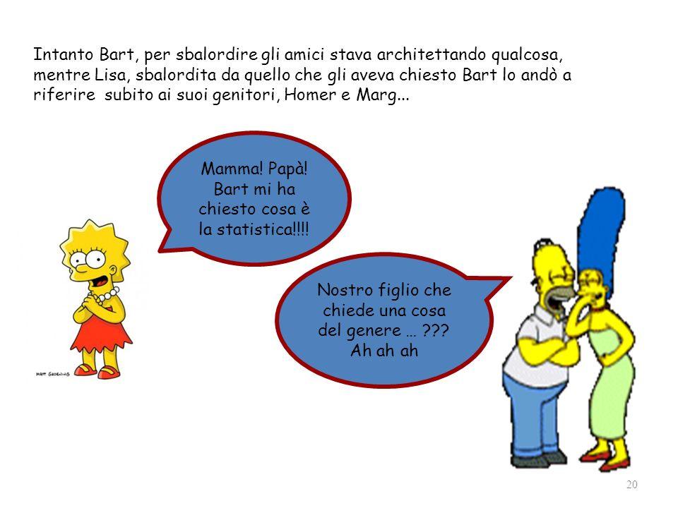 Mamma! Papà! Bart mi ha chiesto cosa è la statistica!!!!