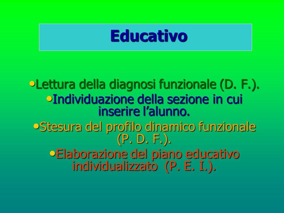 Educativo Lettura della diagnosi funzionale (D. F.).