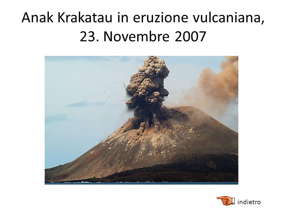 Anak Krakatau in eruzione vulcaniana, 23. Novembre 2007