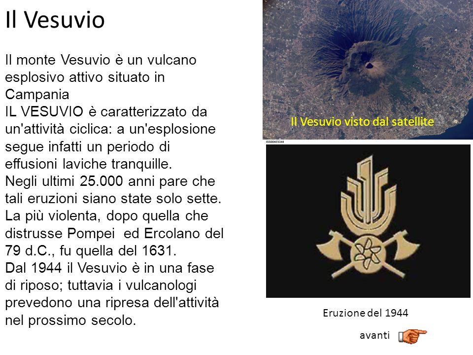 Il Vesuvio visto dal satellite