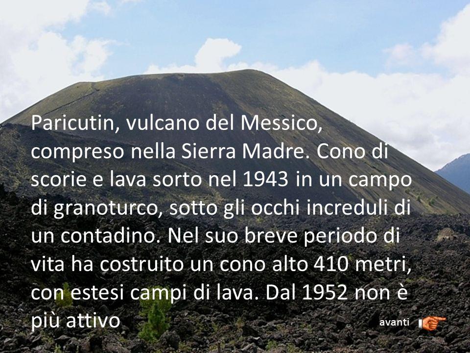Paricutin, vulcano del Messico, compreso nella Sierra Madre