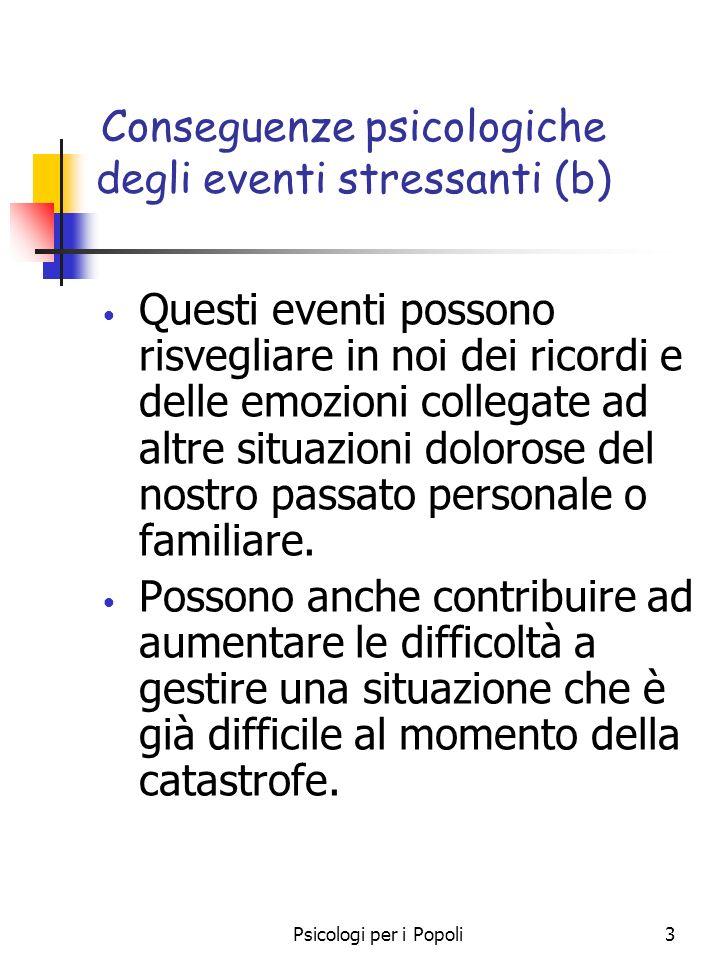 Conseguenze psicologiche degli eventi stressanti (b)