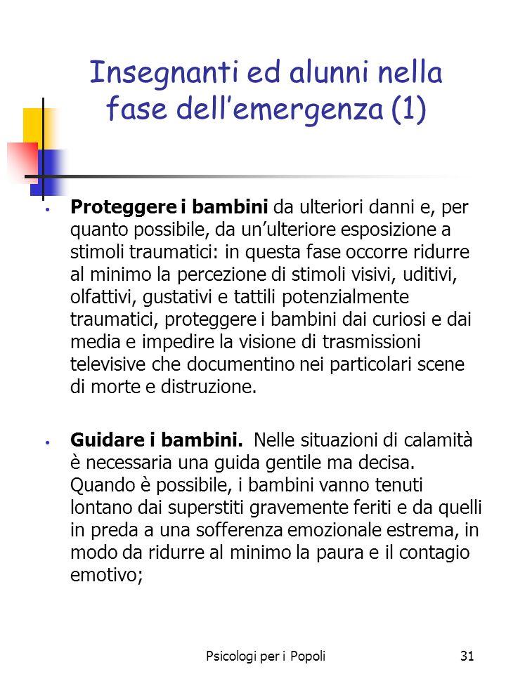 Insegnanti ed alunni nella fase dell'emergenza (1)
