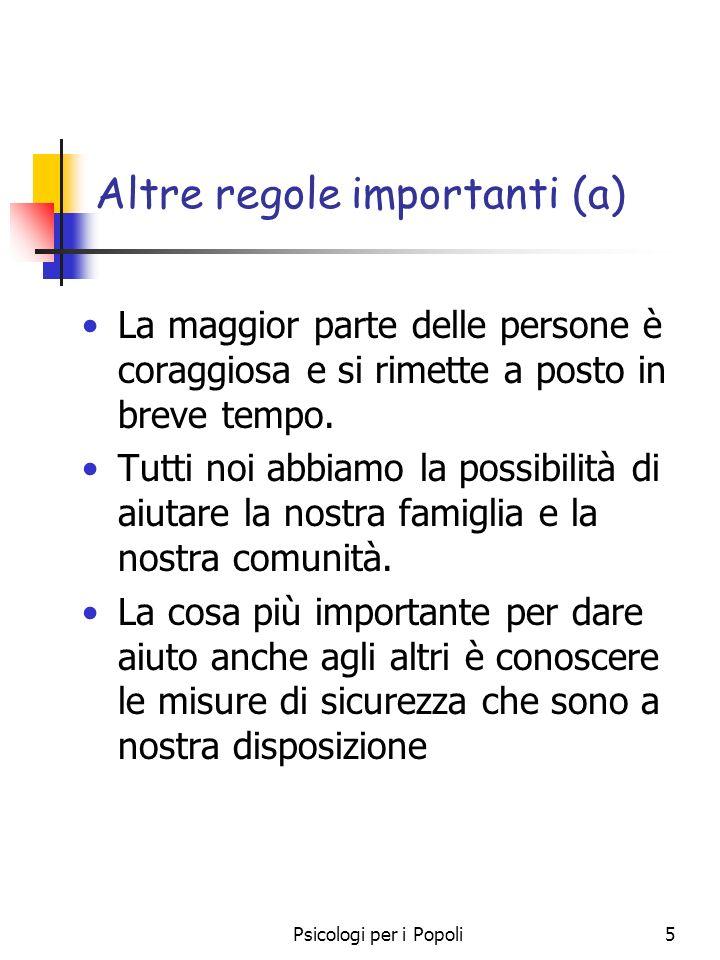 Altre regole importanti (a)