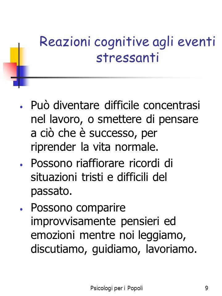 Reazioni cognitive agli eventi stressanti