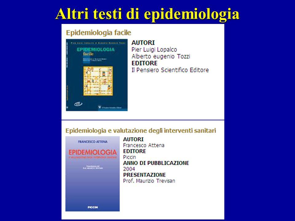 Altri testi di epidemiologia