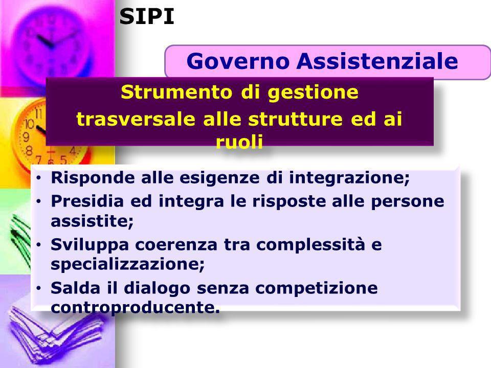 Governo Assistenziale trasversale alle strutture ed ai ruoli