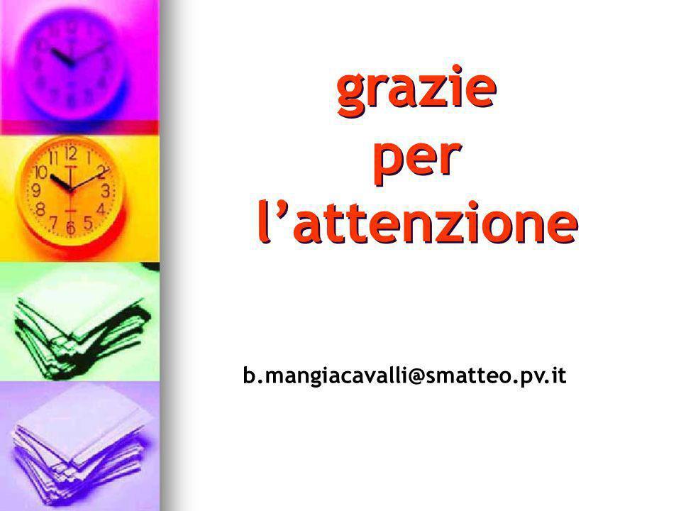 grazie per l'attenzione b.mangiacavalli@smatteo.pv.it