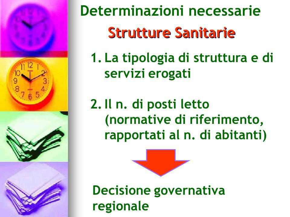 Determinazioni necessarie