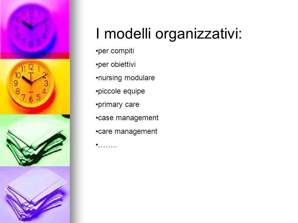 I modelli organizzativi: