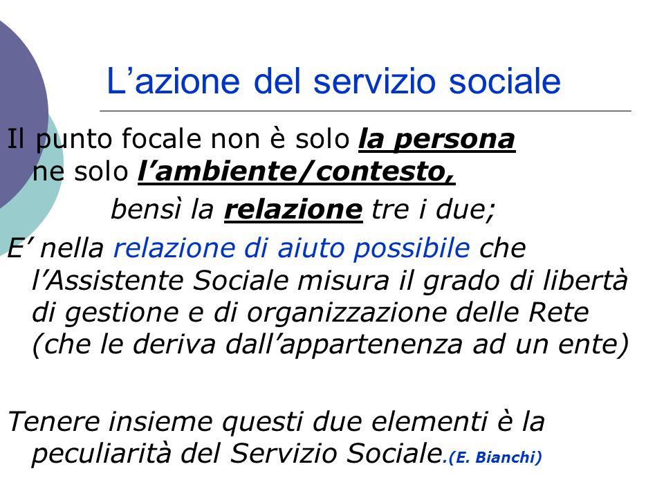 L'azione del servizio sociale