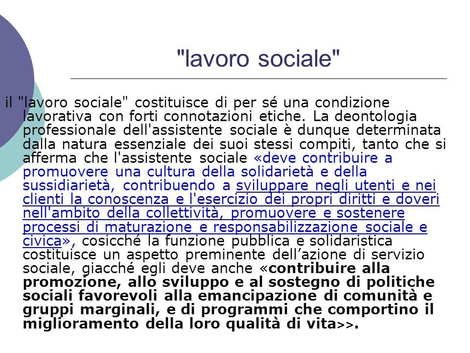 lavoro sociale