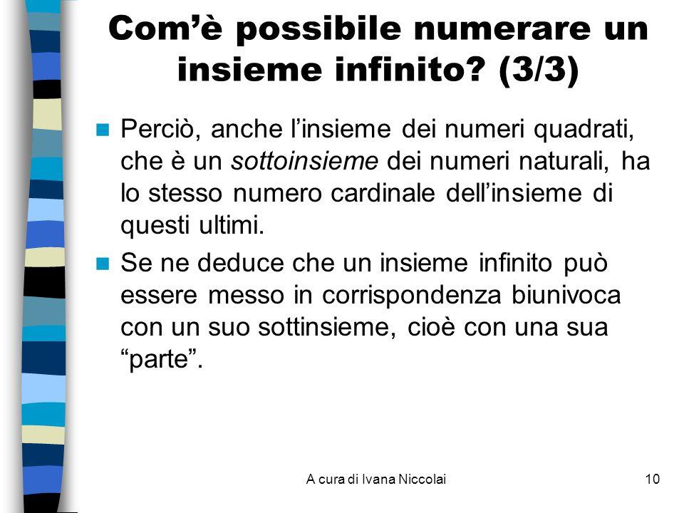 Com'è possibile numerare un insieme infinito (3/3)