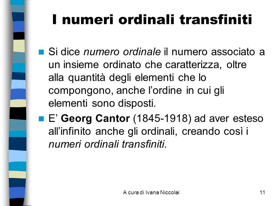 I numeri ordinali transfiniti