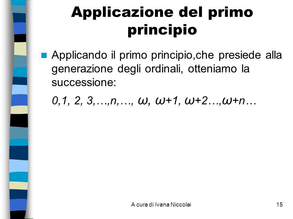 Applicazione del primo principio