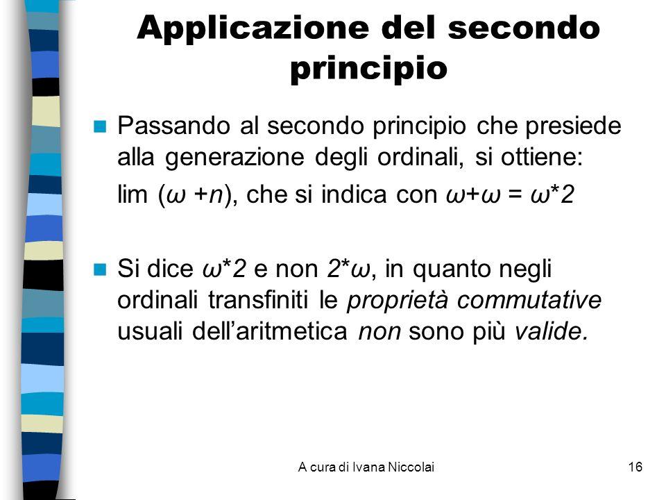 Applicazione del secondo principio