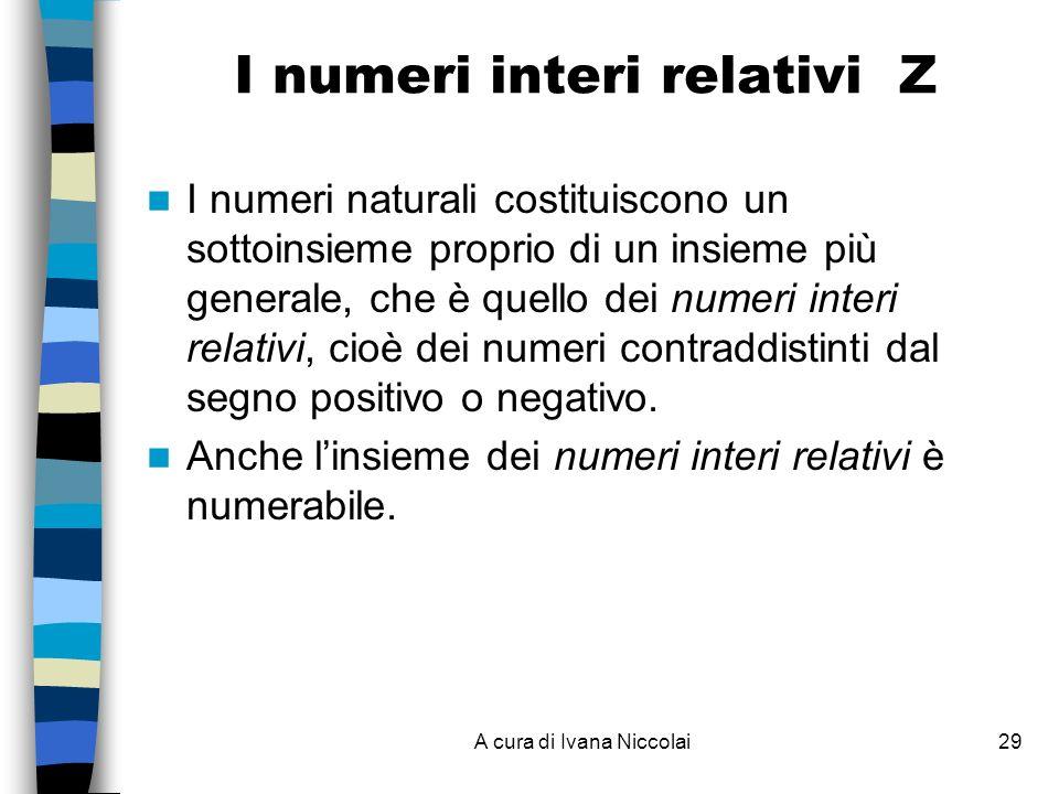 I numeri interi relativi Z