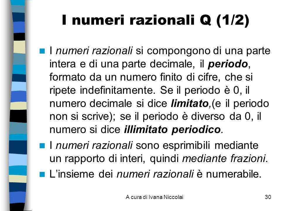 I numeri razionali Q (1/2)