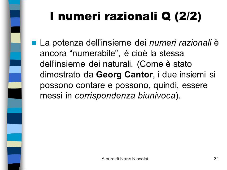 I numeri razionali Q (2/2)