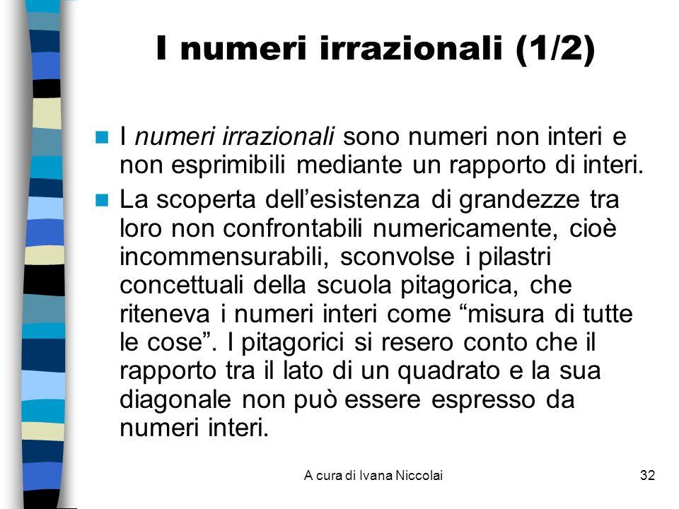I numeri irrazionali (1/2)