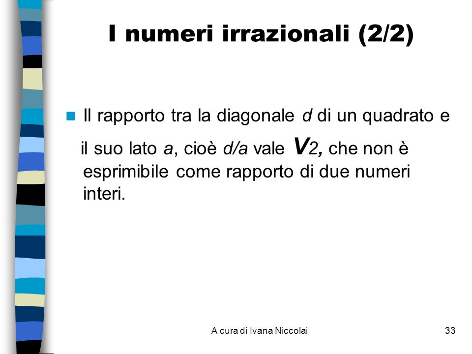 I numeri irrazionali (2/2)