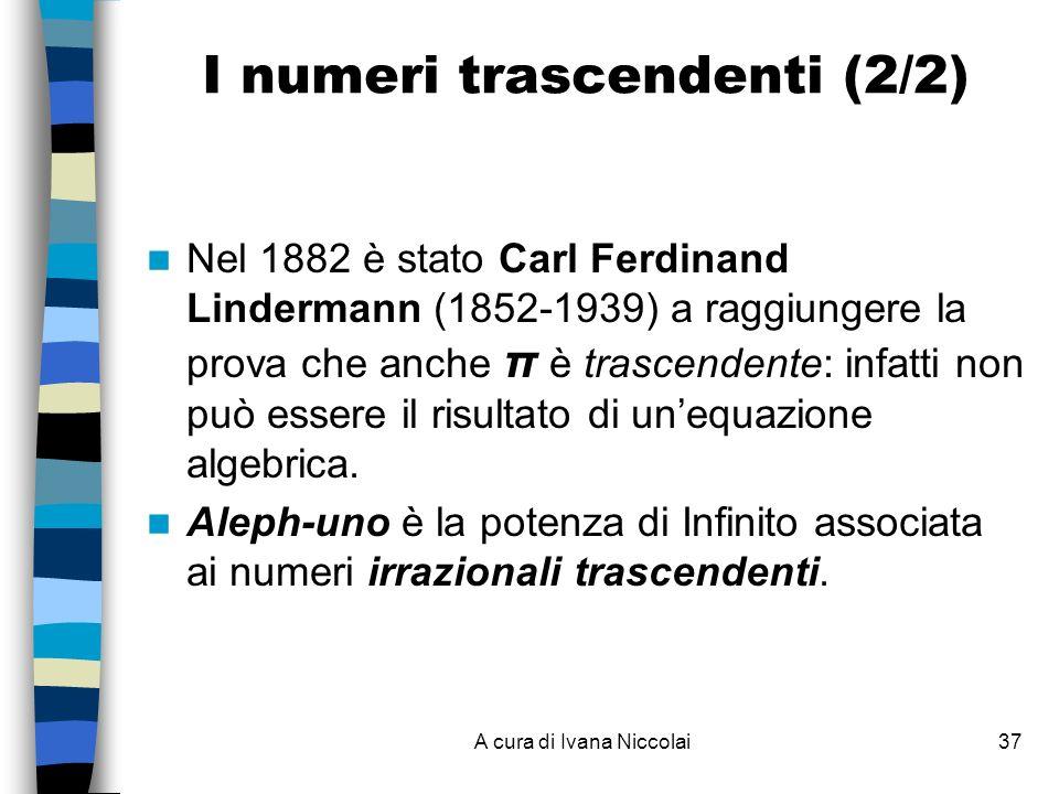 I numeri trascendenti (2/2)