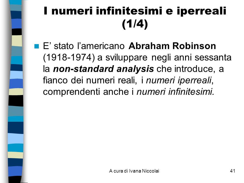 I numeri infinitesimi e iperreali (1/4)