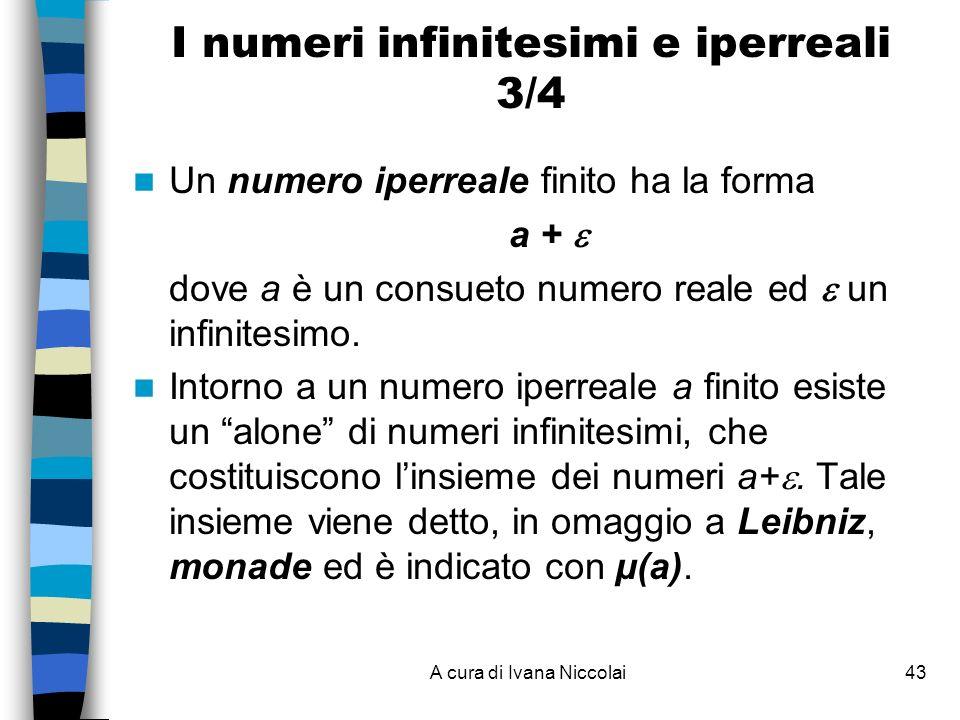 I numeri infinitesimi e iperreali 3/4